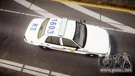 Ford Crown Victoria Canada Police [ELS] para GTA 4 visión correcta