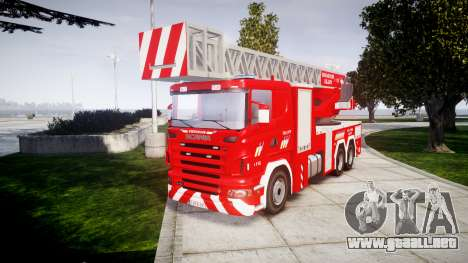 Scania R580 Belgian Fireladder [ELS] para GTA 4