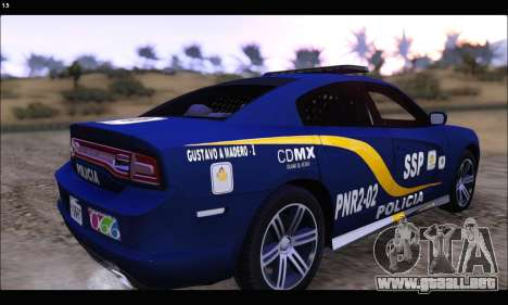 Dodge Charger SXT PREMIUM V6 SSP DF 2014 para GTA San Andreas left