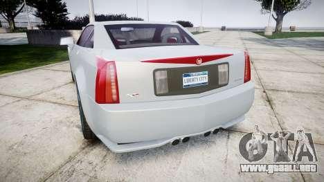 Cadillac XLR-V 2009 para GTA 4 Vista posterior izquierda