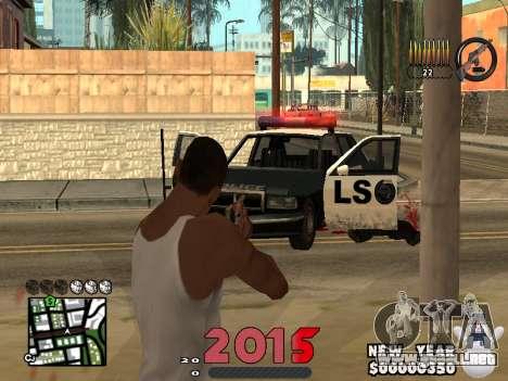 CLEO HUD New Year 2015 para GTA San Andreas sucesivamente de pantalla