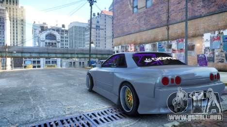 Nissan Skyline R32 GT-R Origin Kit para GTA 4 left