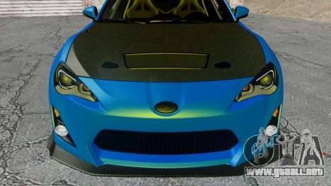Subaru BRZ Drift Built para GTA San Andreas vista hacia atrás