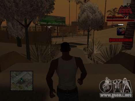 C-HUD Raisers para GTA San Andreas sexta pantalla
