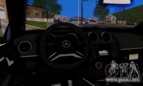 Mercedes-Benz ML63 AMG para visión interna GTA San Andreas