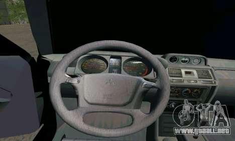 Mitsubishi Pajero Intercooler Turbo 2800 para GTA San Andreas vista posterior izquierda