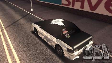 Sultan Winter Camo para la visión correcta GTA San Andreas