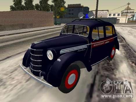 Moskvich 400 De La Policía para GTA San Andreas
