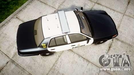 Ford Crown Victoria Ontario Police [ELS] para GTA 4 visión correcta