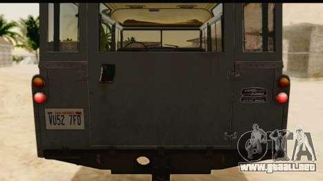 Land Rover Series IIa LWB Wagon 1962-1971 [IVF] para visión interna GTA San Andreas