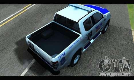 Ford Ranger P.B.A 2015 Text4 para GTA San Andreas vista posterior izquierda
