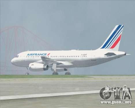 Airbus A319-100 Air France para las ruedas de GTA San Andreas