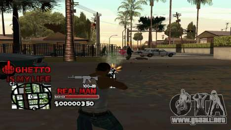 C-HUD Real Man para GTA San Andreas