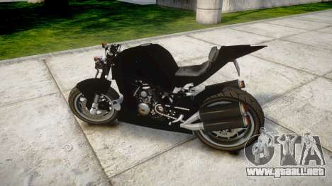 KTM 1190 RC8 StreetFight para GTA 4 left