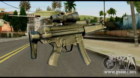 MP5 from Max Payne para GTA San Andreas segunda pantalla
