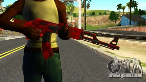 AK47 with Blood para GTA San Andreas