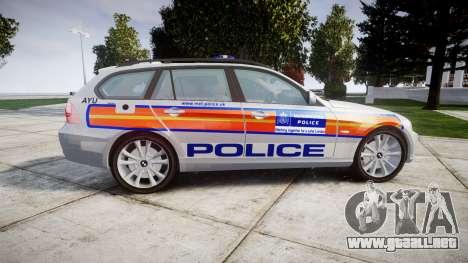 BMW 325d E91 2009 Metropolitan Police [ELS] para GTA 4 left