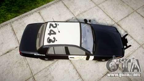 Ford Crown Victoria Highway Patrol [ELS] Slickto para GTA 4 visión correcta