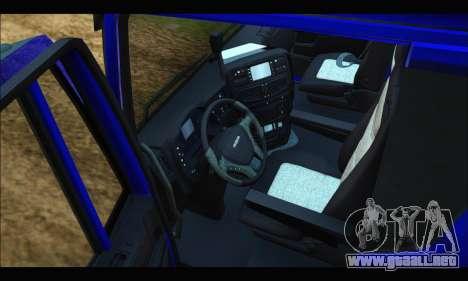 Iveco Trakker 2014 Tipper para visión interna GTA San Andreas