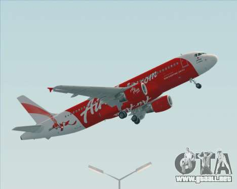 Airbus A320-200 Air Asia Japan para GTA San Andreas left