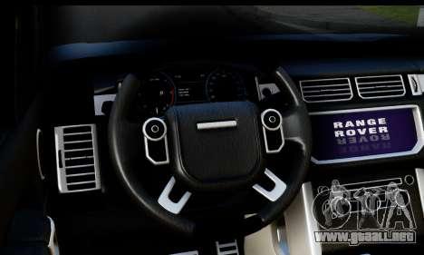 Range Rover IV 3.0 AT para la visión correcta GTA San Andreas