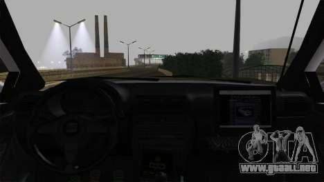 Seat Toledo 1999 Police para GTA San Andreas vista posterior izquierda