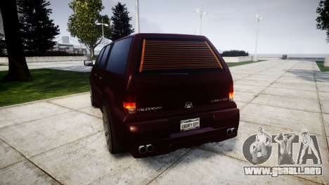 Albany Cavalcade EXT para GTA 4 Vista posterior izquierda