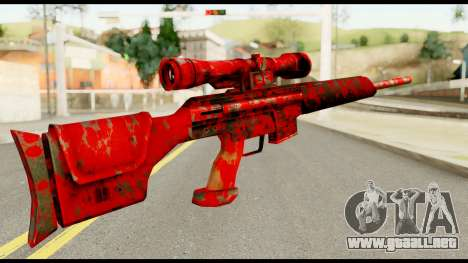Sniper Rifle with Blood para GTA San Andreas segunda pantalla