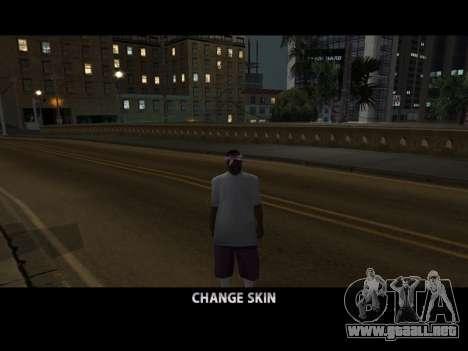 Skin Changer para GTA San Andreas sucesivamente de pantalla