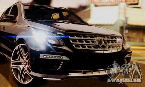 Mercedes-Benz ML63 AMG para GTA San Andreas vista posterior izquierda