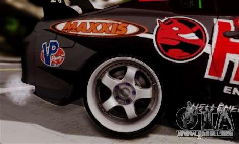 Toyota Supra HELL DT para GTA San Andreas vista posterior izquierda