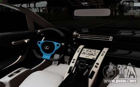 Lexus LF-A 2010 para GTA San Andreas vista hacia atrás