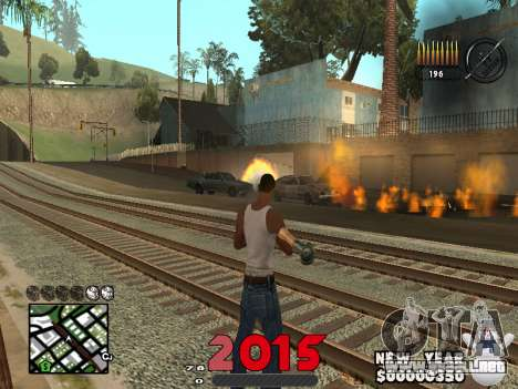 CLEO HUD New Year 2015 para GTA San Andreas segunda pantalla