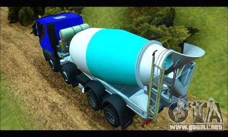 Iveco Trakker 2014 Concrete para GTA San Andreas vista posterior izquierda