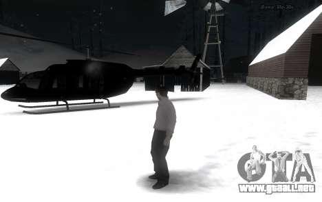 Snow Mod para GTA San Andreas segunda pantalla