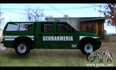 Chevrolet S-10 Gendarmeria para GTA San Andreas left