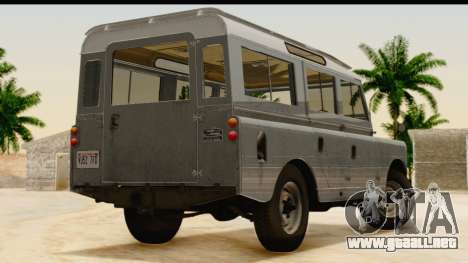 Land Rover Series IIa LWB Wagon 1962-1971 [IVF] para GTA San Andreas left
