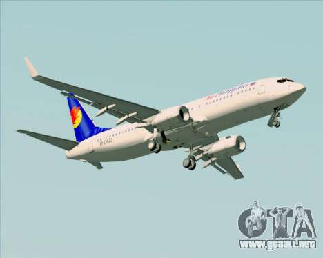Boeing 737-800 Air Philippines para la vista superior GTA San Andreas