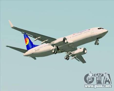 Boeing 737-800 Air Philippines para la vista superior GTA San Andreas