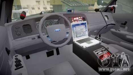 Ford Crown Victoria Highway Patrol [ELS] Slickto para GTA 4 vista hacia atrás
