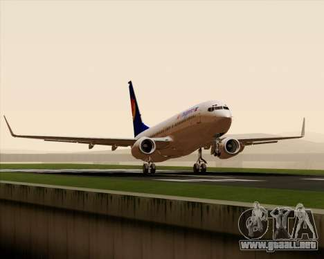 Boeing 737-800 Air Philippines para vista lateral GTA San Andreas