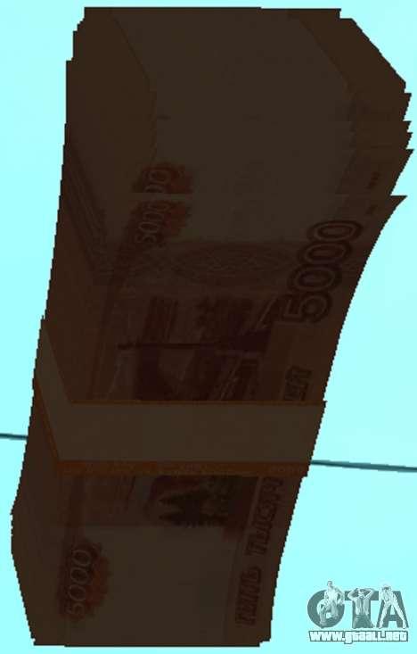 5000 rublos para GTA San Andreas tercera pantalla