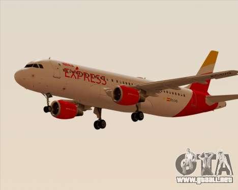 Airbus A320-200 Iberia Express para GTA San Andreas vista posterior izquierda