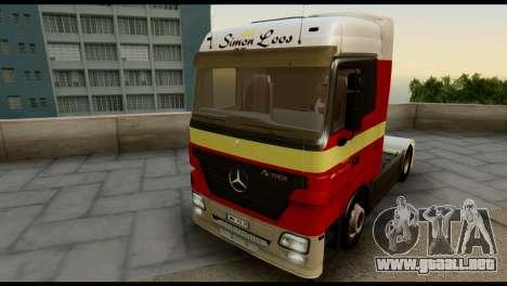 Mercedes-Benz Actros PJ1 para vista lateral GTA San Andreas