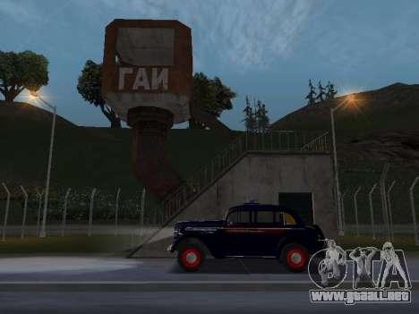 Moskvich 400 De La Policía para la visión correcta GTA San Andreas