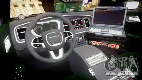 Dodge Charger 2015 County Sheriff [ELS] para GTA 4 vista hacia atrás