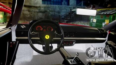 Ferrari Testarossa 1986 v1.2 [EPM] para GTA 4 vista hacia atrás