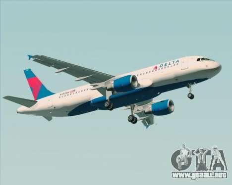 Airbus  A320-200 Delta Airlines para GTA San Andreas vista posterior izquierda