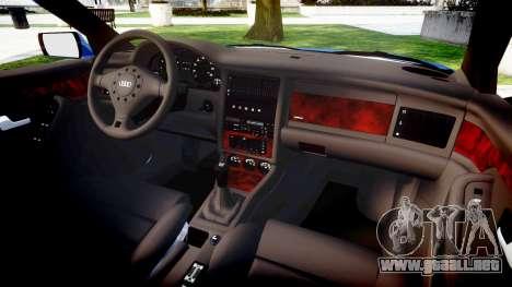 Audi 80 Cabrio us tail lights para GTA 4 vista interior