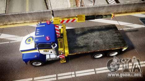 HVY Biff Indonesian Jasamarga Tow Truck [ELS] para GTA 4 visión correcta